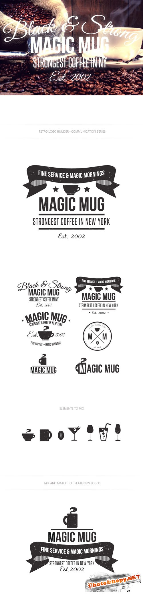 Drinks Logo Vector Templates