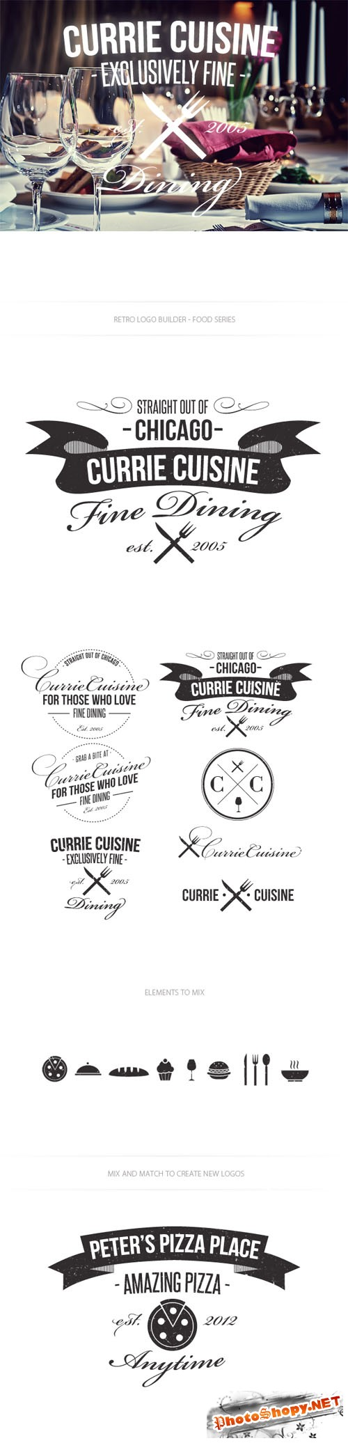 Food Logo Vector Templates