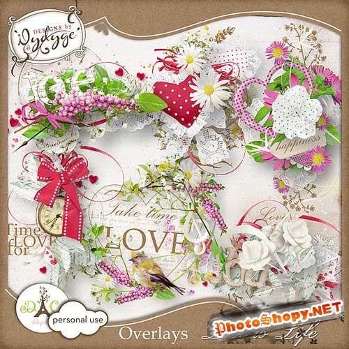 Романтический набор для скрапбукинга - Любовь-это жизнь
