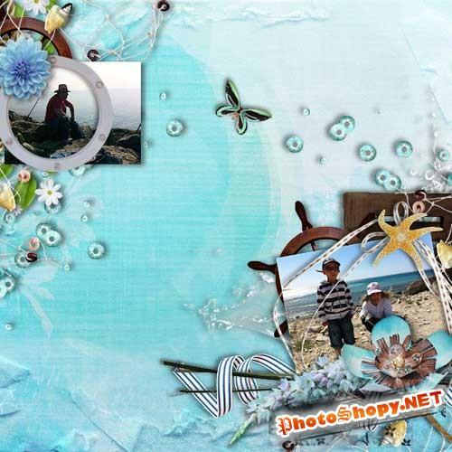 Морской скрап-комплект - Морское время