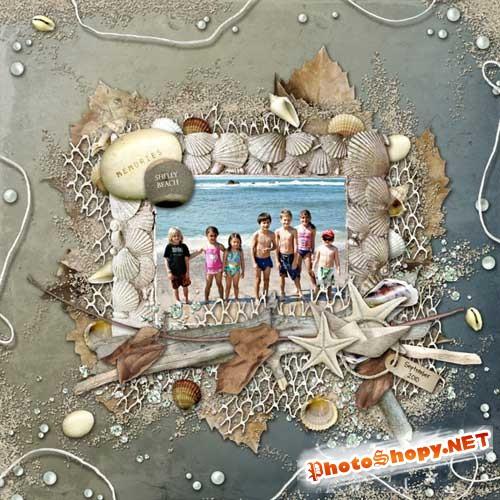 Морской скрап-комплект - Сонный океан