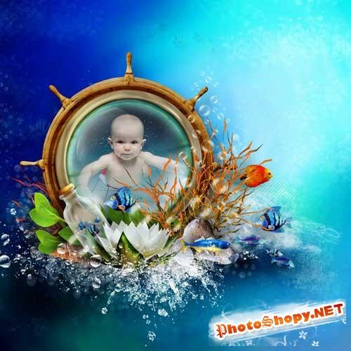 Морской скрап-комплект - Подводный мир