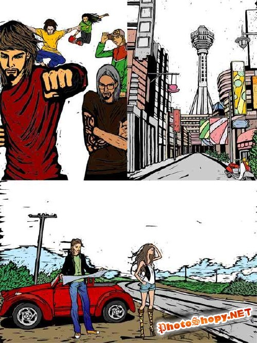 Город и молодежь - векторный сток