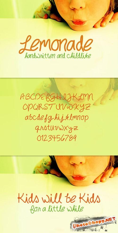 WeGraphics - Lemonade – Handwritten Childlike Font Face