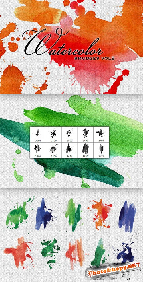 WeGraphics - Watercolor Smears Multi-Pack Vol 2