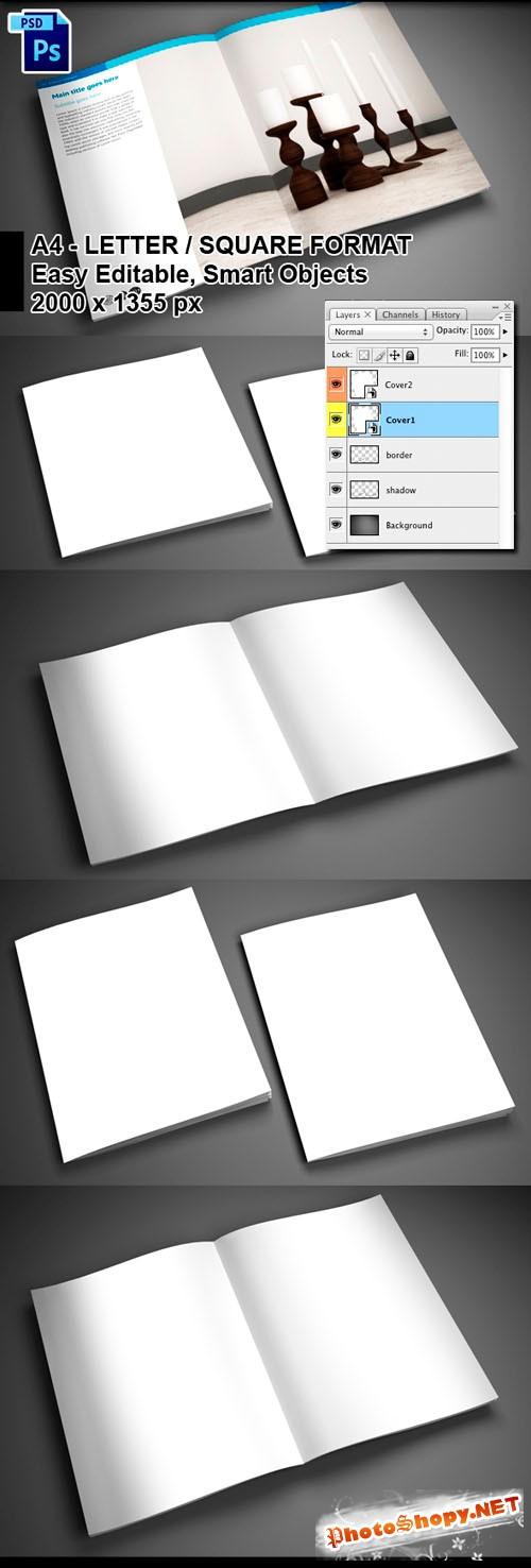 4 PSD Brochure Mock-ups Templates