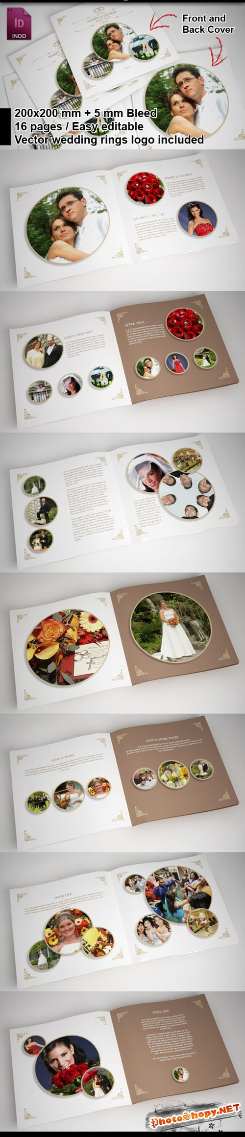 Wedding Album Brochure Highlights Template