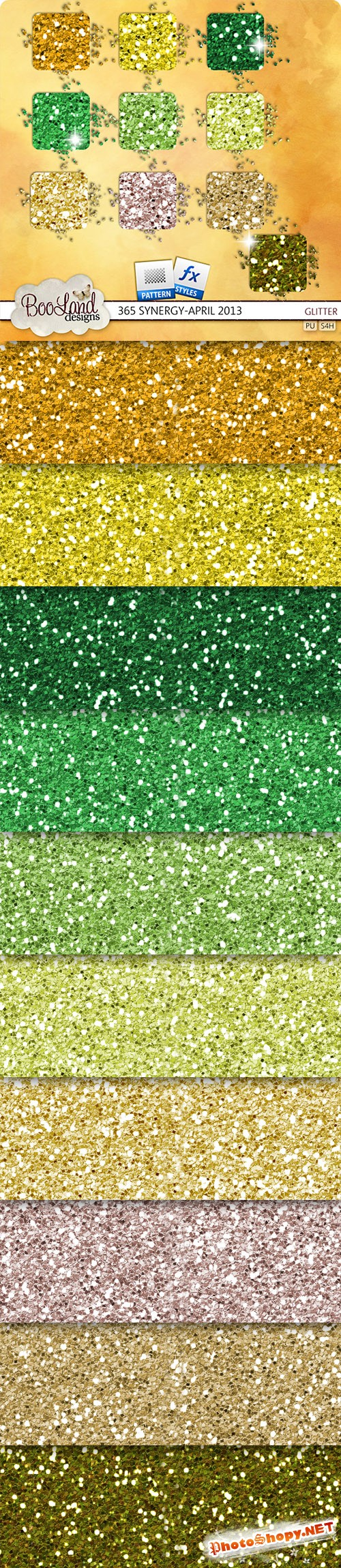 Glitter Texture and Background Photoshop Patterns