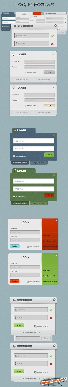 Login Forms PSD Template