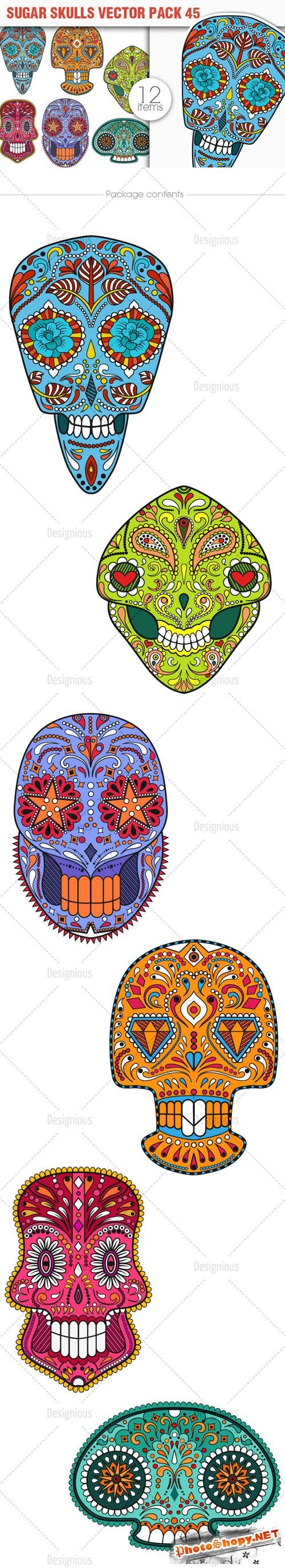 Sugar Skulls Vector Pack 45