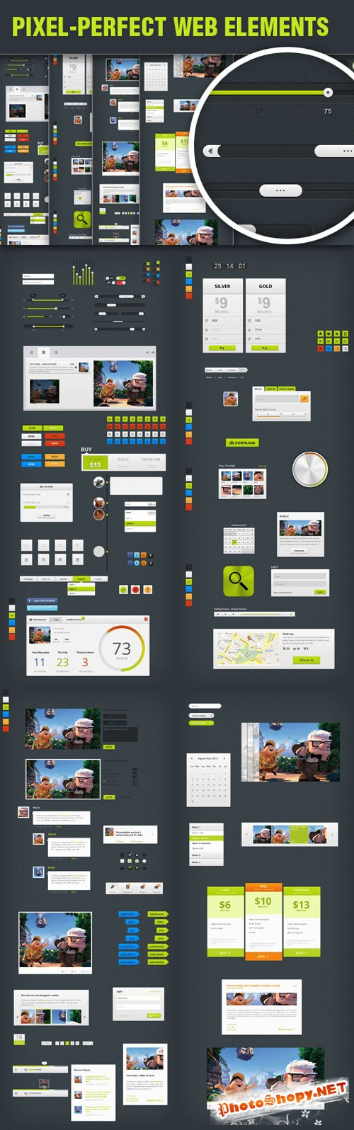 Get a Complete Set of Pixel Perfect Web Elements for only $20