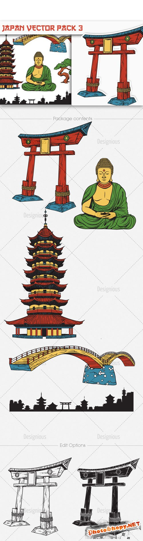 Japan Photoshop Vector Pack 3
