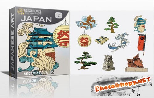 Japan Photoshop Vector Pack 2