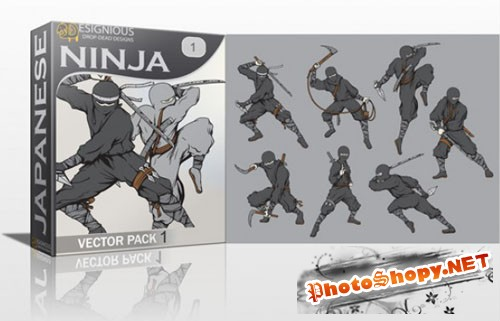 Ninja Photoshop Vector Pack 1