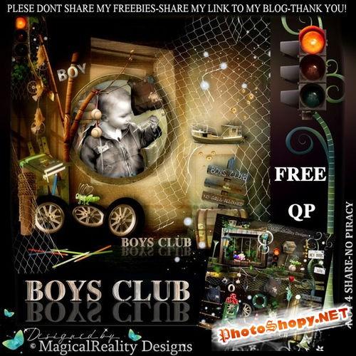 Детский скрап-комплект для мальчишек - Клуб для мальчиков