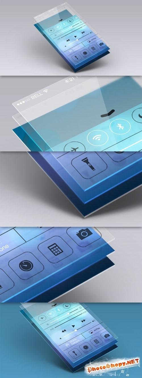 Pixeden - Perspective App Screen Mock-Up 5