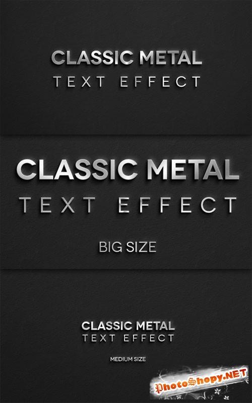 Pixeden - Classic Metal Psd Text Effect