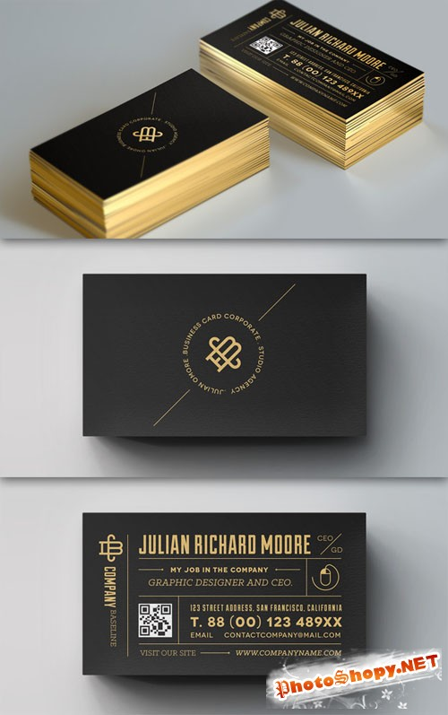 Pixeden - Psd Corporate Business Card Vol 8