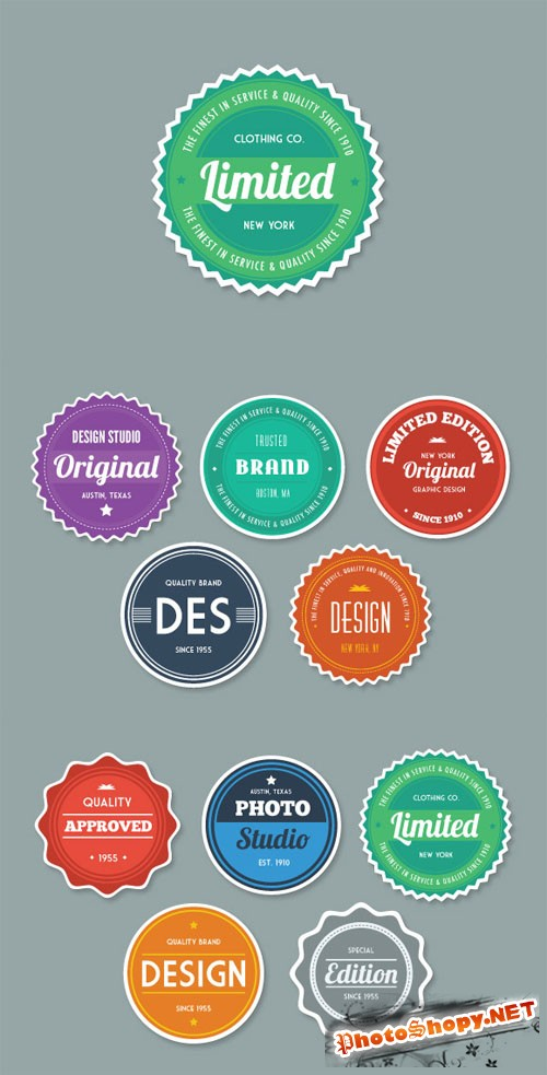 WeGraphics - Flat Style Vector Badges