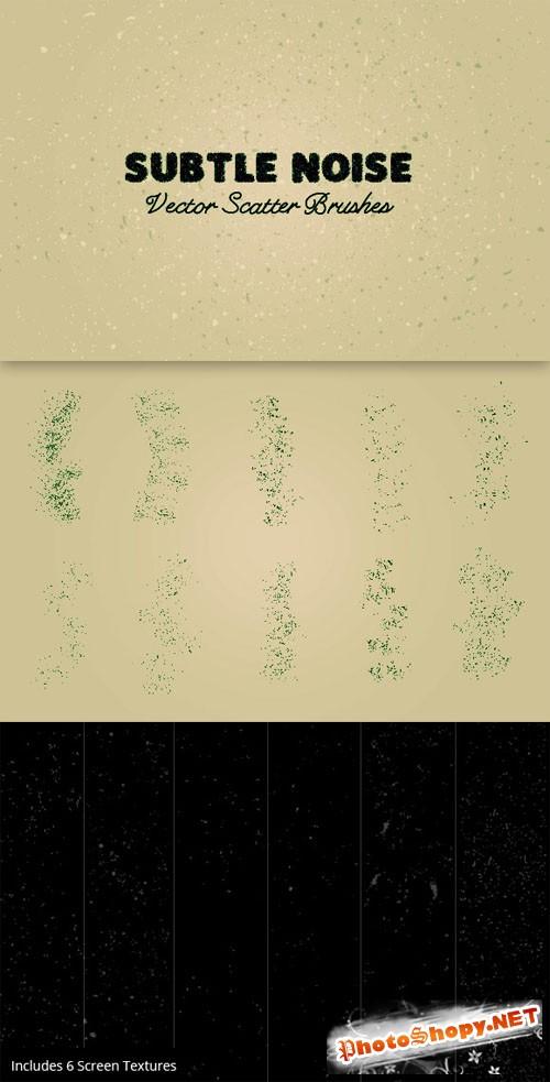 WeGraphics - Grunge Noise Vector Scatter Brushes