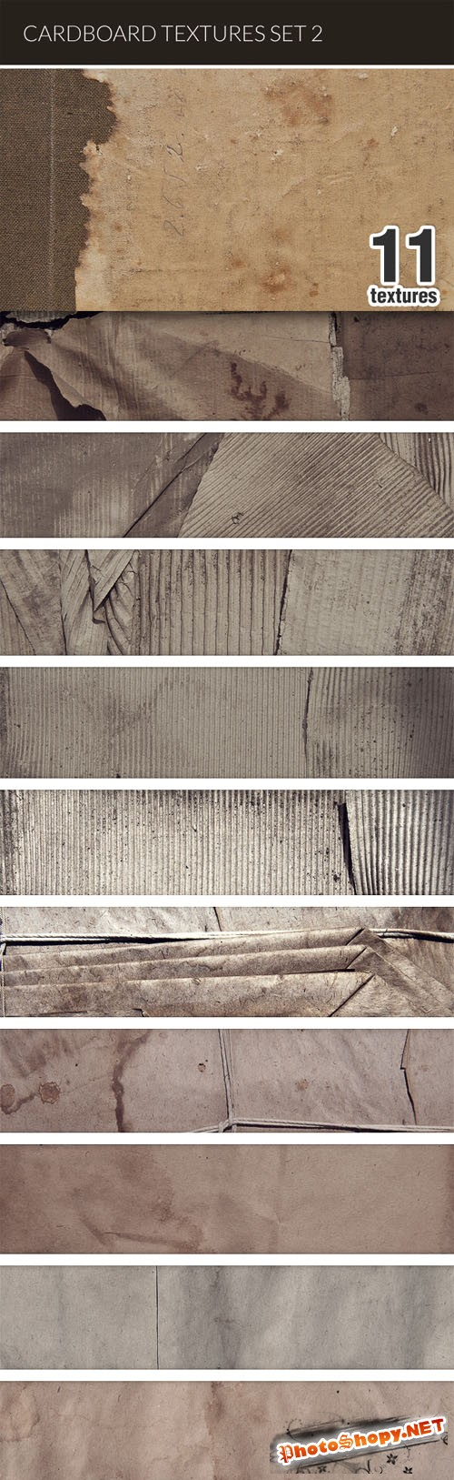 Designtnt - Cardboard Textures Set 2