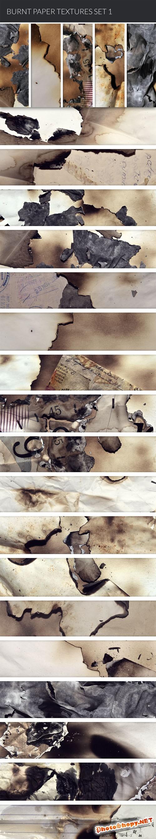 Designtnt - Burnt Paper Textures
