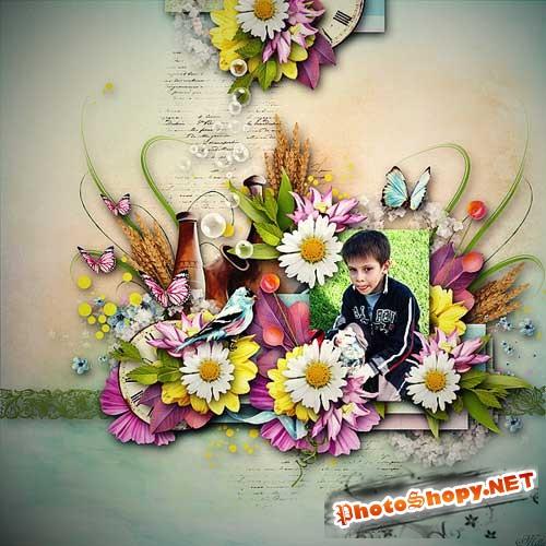 Цветочный скрап-комплект - Цветочное путешествие