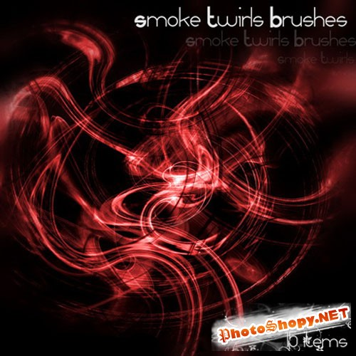 Smoke Twirls Photoshop Brushes