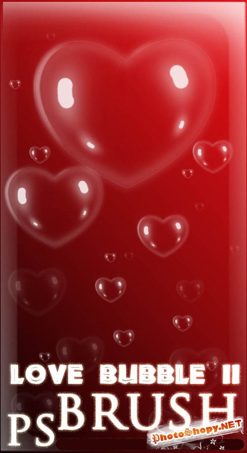 Love Bubble Photoshop Brushes #2