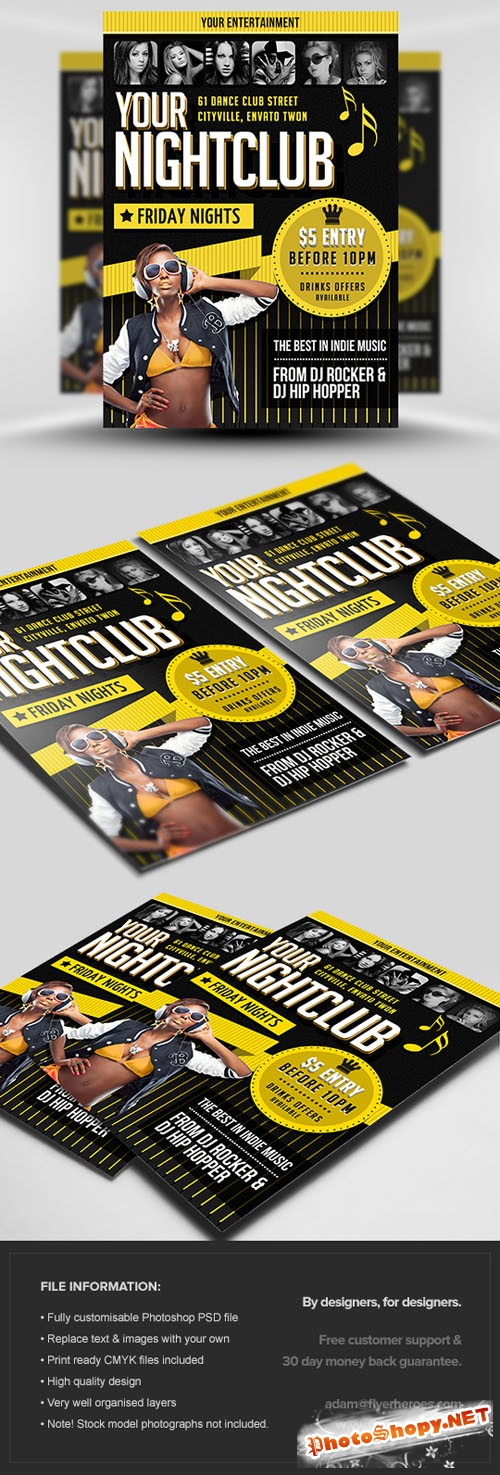 Indie Party Flyer/Poster PSD Template