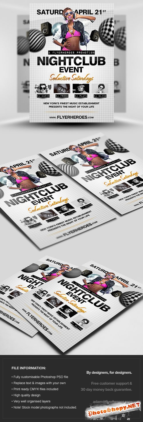 Nightclub Party Flyer/Poster PSD Template