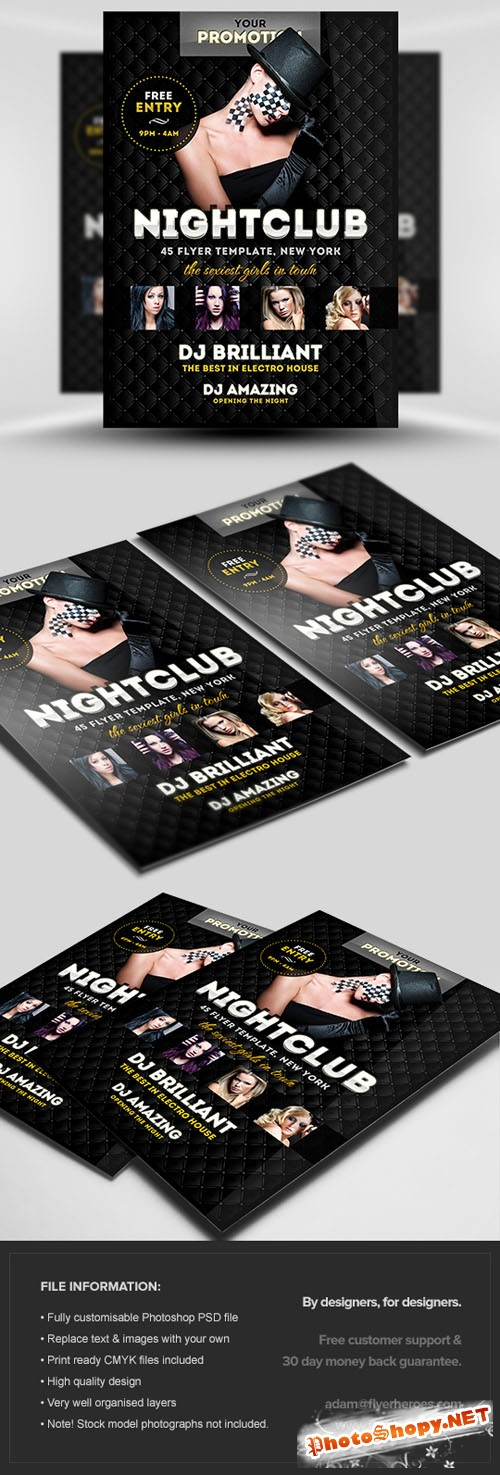 Luxury Club Party Flyer/Poster PSD Template