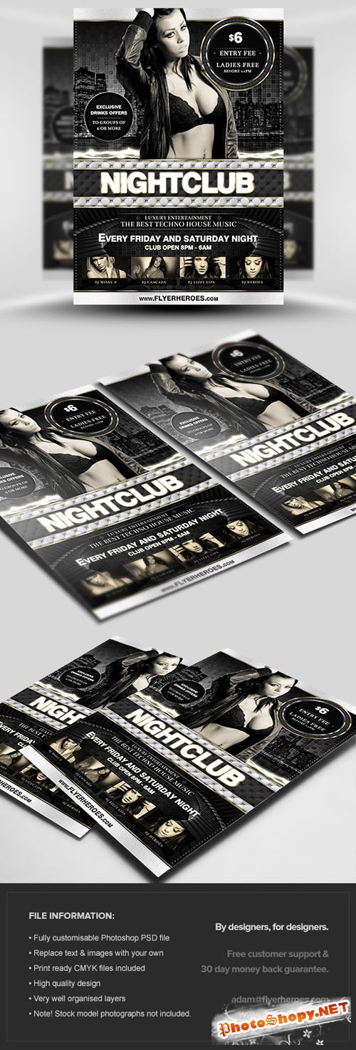 Deluxe Nightclub Flyer/Poster PSD Template