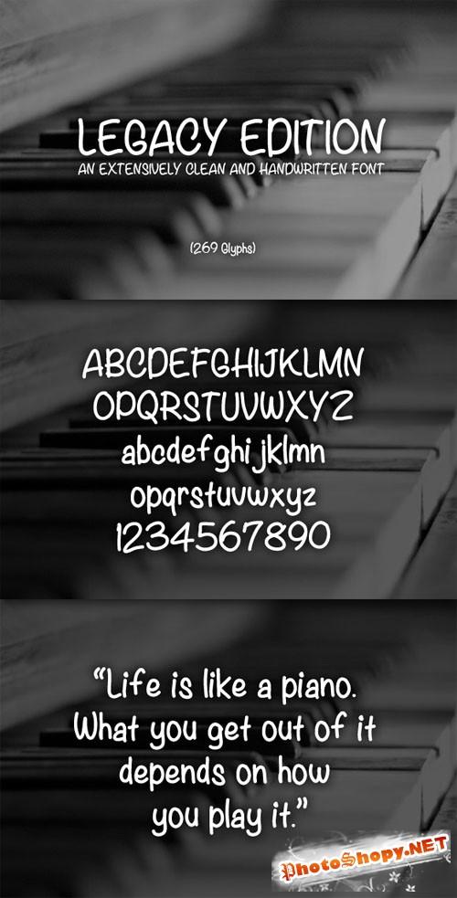 WeGraphics - Legacy Edition - A Handwritten Font Face