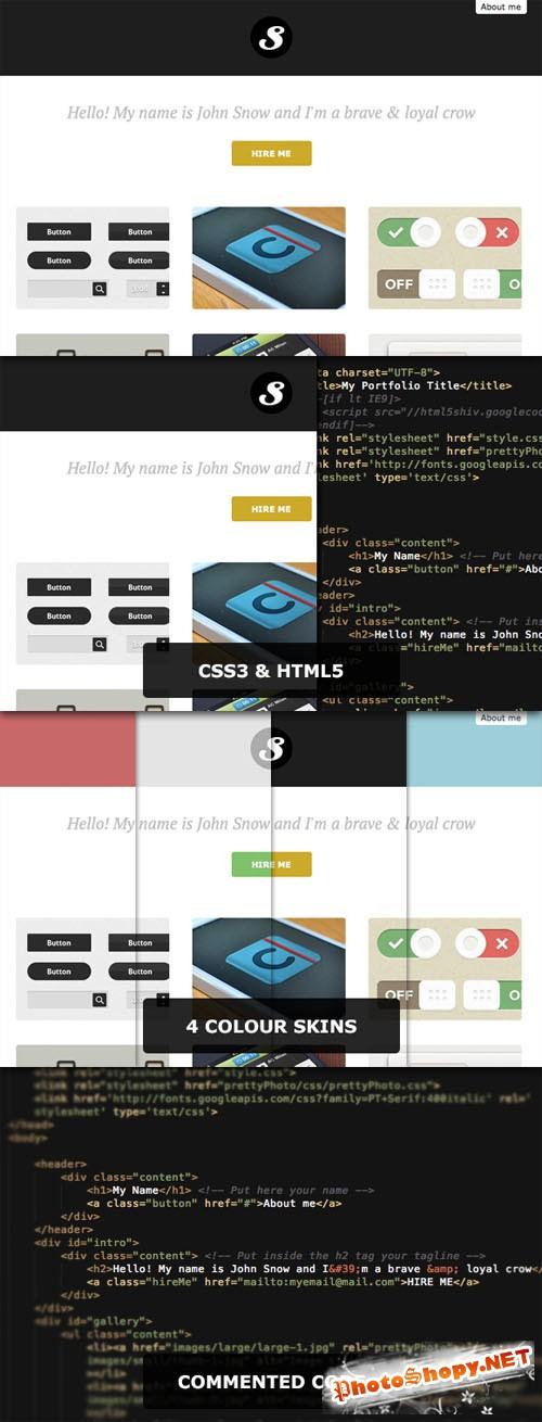 WeGraphics - EasyPortfolio 1.1 - Responsive one-page portfolio
