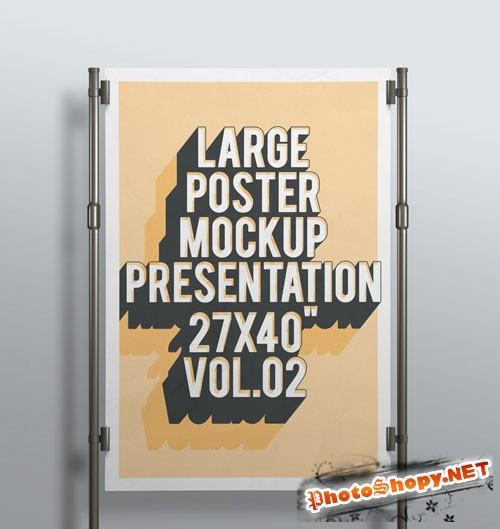Pixeden - Psd Poster Mockup Presentation Vol2