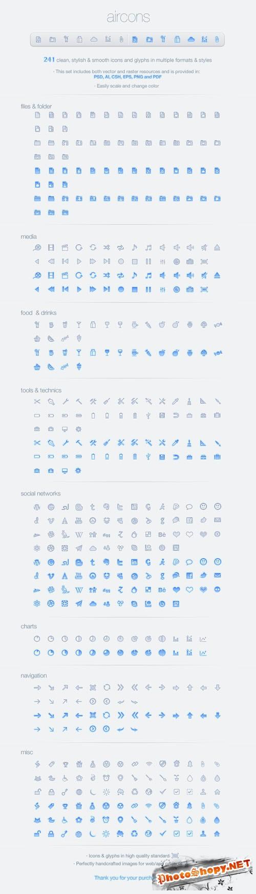 Icons - Aircons Set