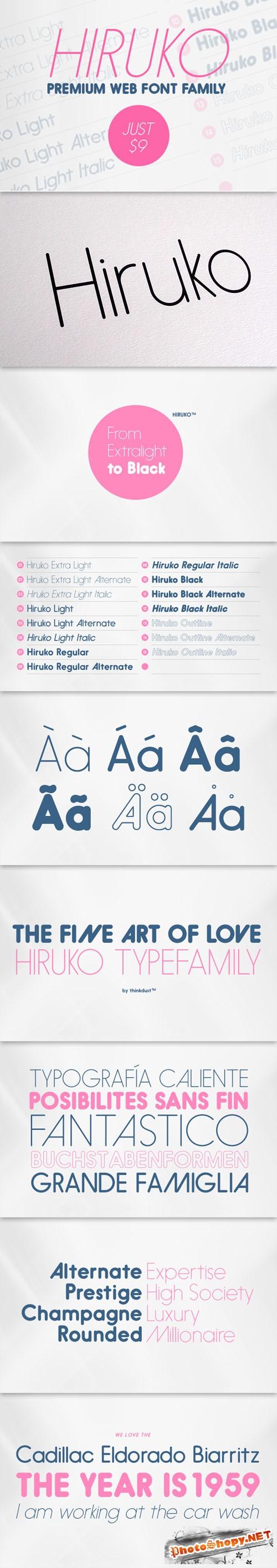 Hiruko Premium Web Font Family for Just $9 (regular $300)