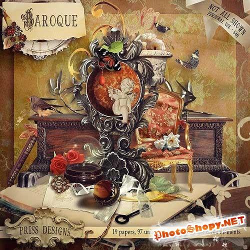 Винтажный скрап-комплект - Барокко