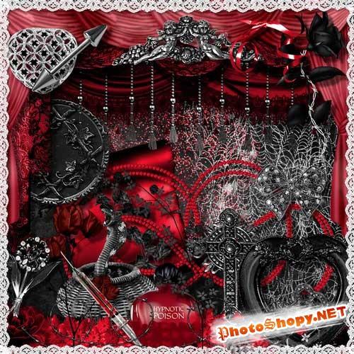 Комплект из 5 романтических скрап-наборов - Яд