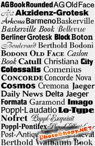 ������� ������� ( �����8) / Collection of fonts ( Part 8 )