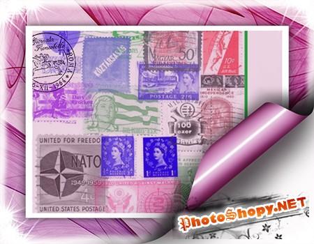 Кисти для Photoshop - Штампы и почтовые марки