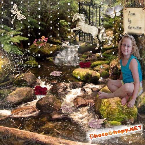 Сказочный скрап-комплект - Фея с единорогом