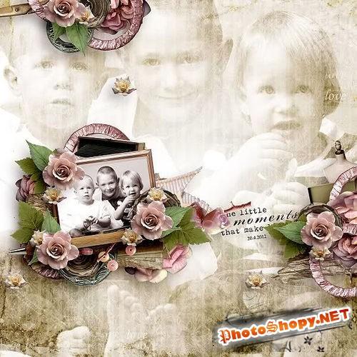 Винтажный романтический скрап-комплект - Семейные воспоминания