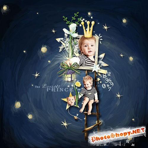 Детский нарисованный скрап-комплект - Маленький принц