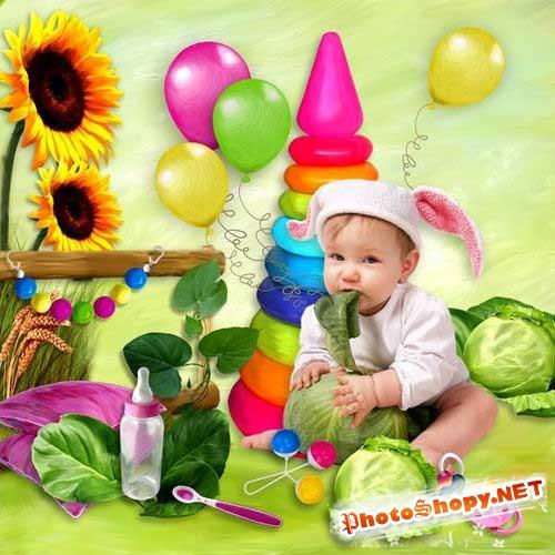 Детский скрап-комплект для девочек - Малышка