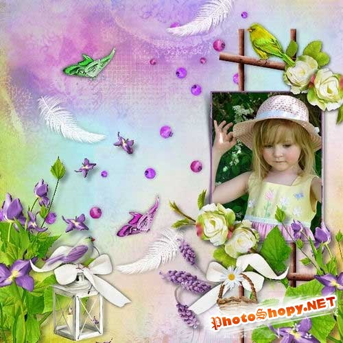 Цветочный скрап-комплект - Бесконечные цветы