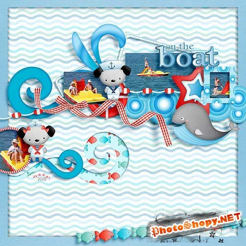Детский морской скрап-комплект - Я на море