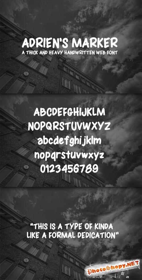 WeGraphics - Adrien�s Marker Handwritten Web Font