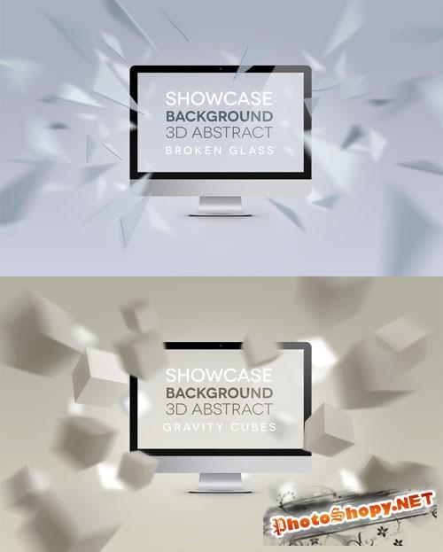 Pixeden - 3D Display Abstract Backgrounds